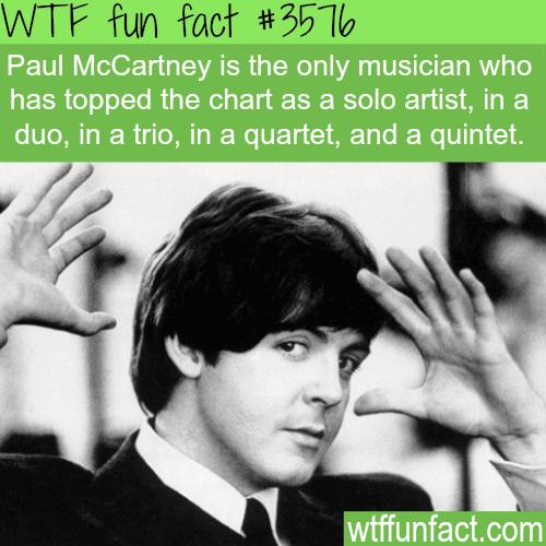 Paul McCartney facts - WTF fun facts