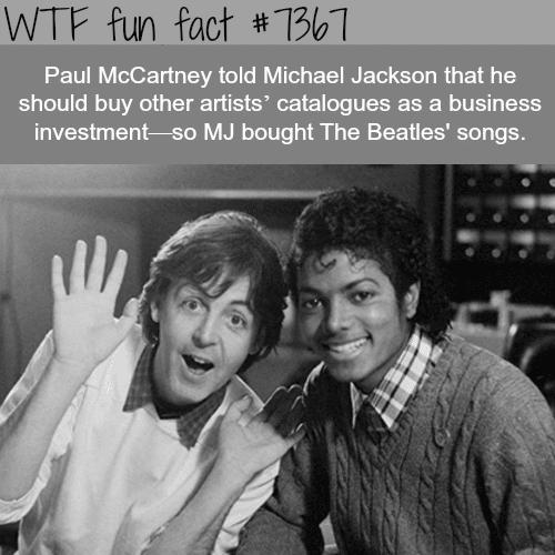 Paul McCartney and Michael Jackson - WTF fun facts