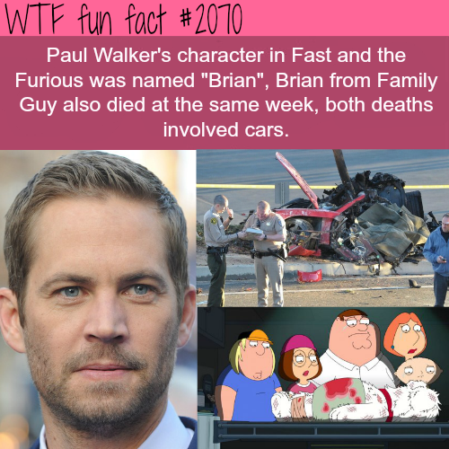 Paul Walker's facts -WTF fun facts