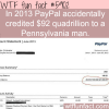 paypal credits a man with 92 quadrillion wtf