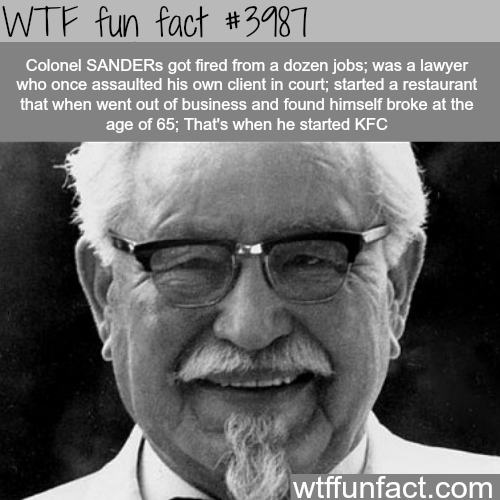 People who became successful late in life - WTF fun facts