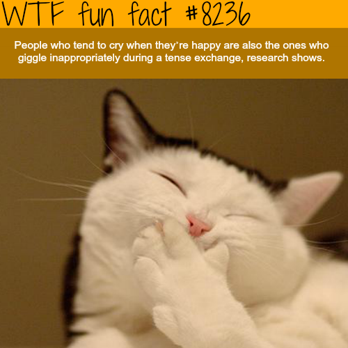 People who cry when they are happy - WTF fun facts