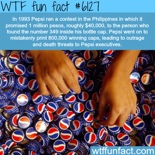 Pepsi contest - WTF fun facts