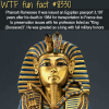 pharaoh rameses was issued an egyptian passport