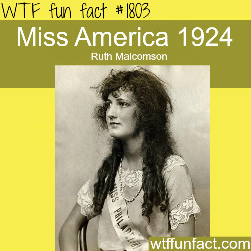 Picture of Miss America in the Year 1924 - WTF fun facts