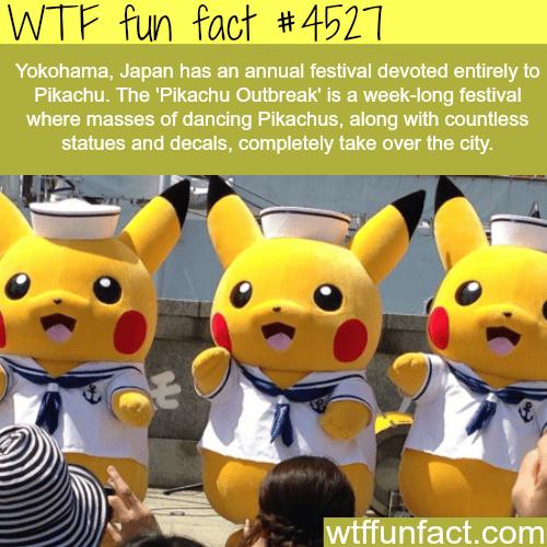 Pikachu Outbreak in Japan -   WTF fun facts