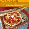 pizza box made out of pizza and garlic bread wtf