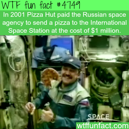 Pizza Hut sent pizza to the International space station for a million dollar - WTF fun facts