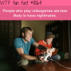 playing video games will help have less nightmares