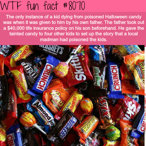 Poisoned Halloween candy - WTF fun fact