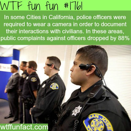 Police wearing cameras in California - WTF fun facts