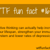 postive thinking wtf fun facts