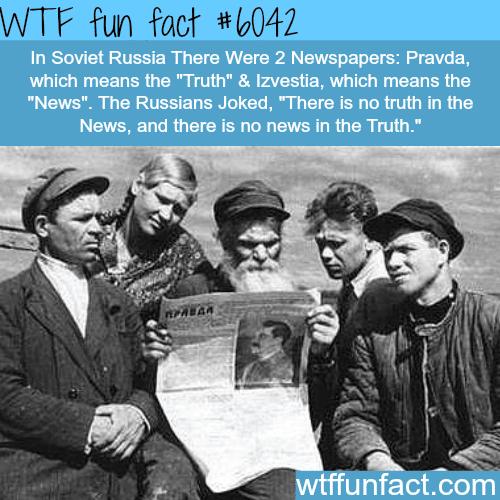 Pravda - WTF fun facts