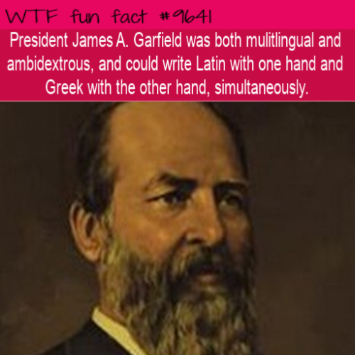 President James A. Garfield was both mulitlingual and ambidextrous