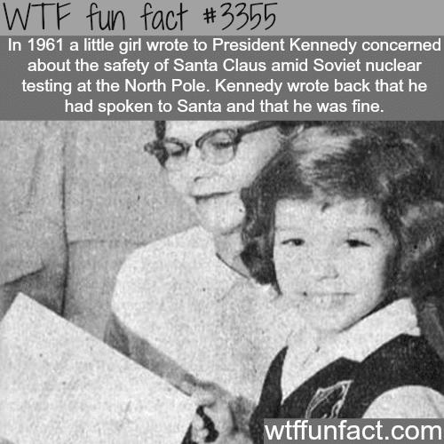 President JFK talked to Santa - WTF fun facts