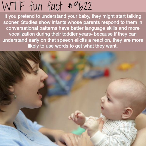 Pretend you understand your baby - WTF fun fact