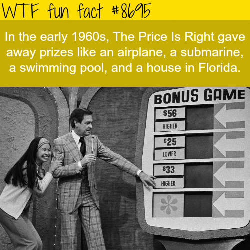 Price Is Right 1960s - WTF fun facts