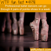 professional ballet wtf fun facts