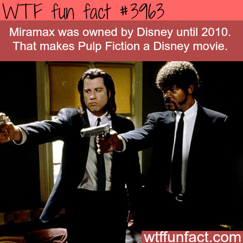 Pulp Fiction is a Disney movie - WTF fun facts