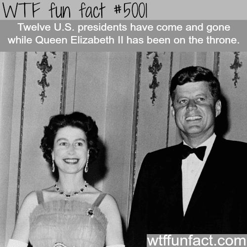 Queen Elizabeth ll with U.S. presidents - WTF fun facts