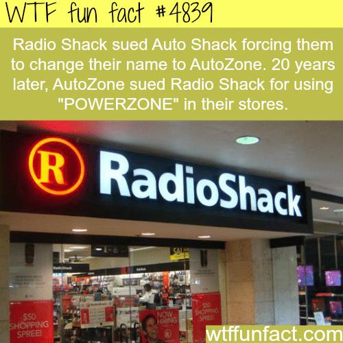 Radio Shack facts - WTF fun facts