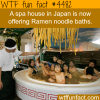 ramen noodle bath in japan wtf fun facts