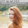 rarest type blonde hair wtf fun facts
