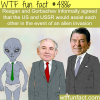 reagan and gorbachev agreed to fight aliens