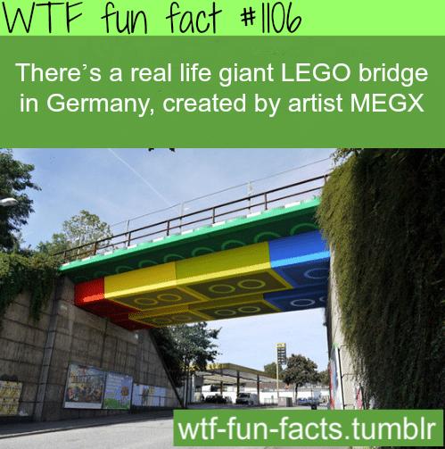 real life giant LEGO bridge in Germany