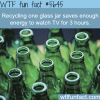 recycling glass wtf fun fact