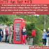 red telephone box converted into a library wtf