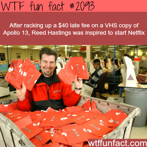 Reed Hastings Idea of Netflix - WTF fun facts