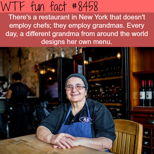 Restaurant in New York that only employs grandmas - WTF fun facts