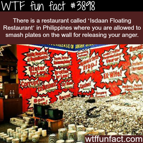 Restaurant in the Philippines where you can smash the plates - WTF fun facts