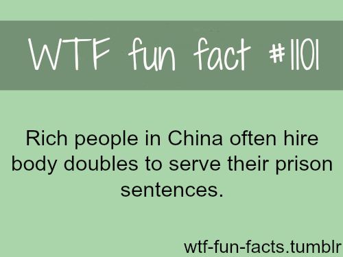 (source) – Rich people in china and body doubles