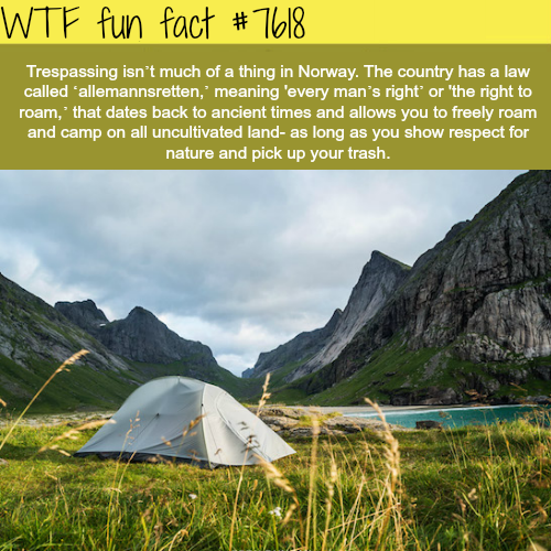 Right to roam - WTF fun facts