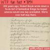 robert boyles to do list wtf fun facts