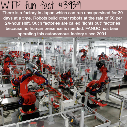 Robots making robots - WTF fun facts