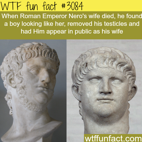 Roman Emperor Nero's wife -WTF fun facts