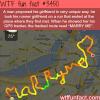 runner propose to his girlfriend via gps app