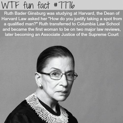 Ruth Bader Ginsburg - WTF fun facts