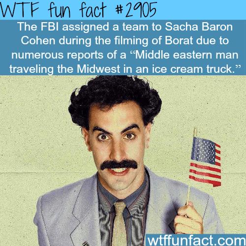 Sacha Baron Cohen as Borat -WTF fun facts