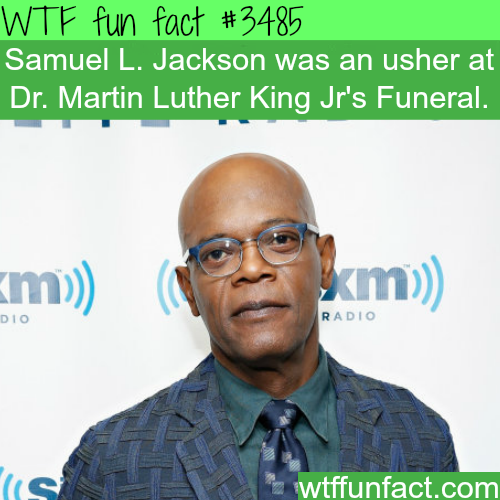 Samuel L. Jackson as an ushe at MLK funeral - WTF fun facts