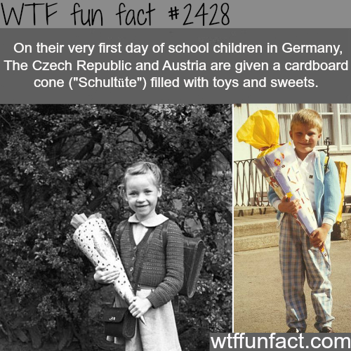 Schultute - cardboard cone filled with toys and sweets - WTF fun facts