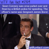 sean connery got pulled over by james bond wtf