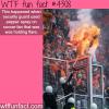 security guard pepper sprays a soccer fan who was