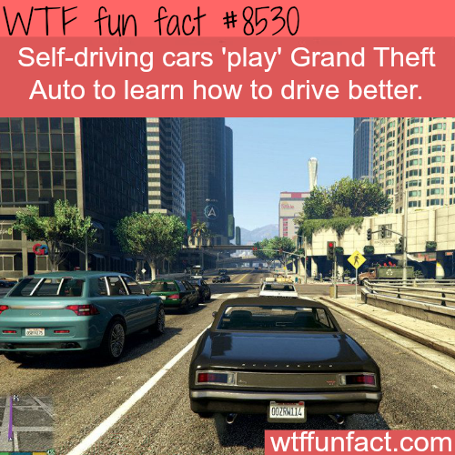 Self-driving cars 'play' Grand Theft Auto to learn to drive - WTF fun facts