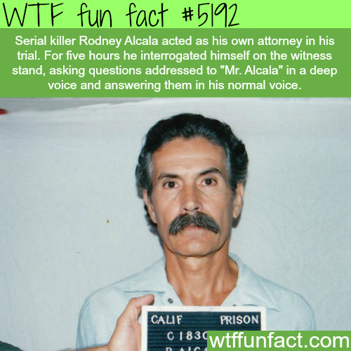 Serial killer acted as his own attorney - WTF fun facts