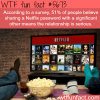 sharing your neflix password wtf fun fact