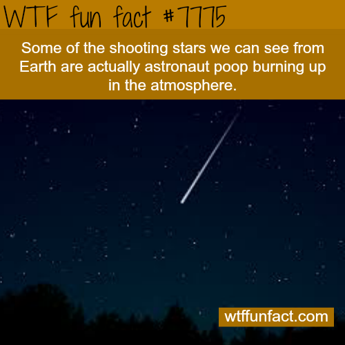 Shooting stars - WTF fun fact